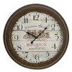 EC World Imports Urban Chateau Grand Weathered Vintage Classic Wall Clock