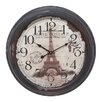 EC World Imports Casa Cortes Republique Francaise Metal Wall Clock