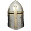 EC World Imports Antique Replica Metal Crusader's Helmet