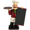 EC World Imports Deluxe Italian Chef with Chalk Board Blackboard Menu Sign and Tray
