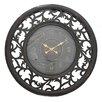 "EC World Imports 36"" Antique Vine Leaf Wooden Wall Clock"