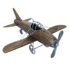 EC World Imports Urban Wooden Toy Replica Handcrafted Airplane Sculpture