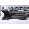 J&M Furniture Ritz Leather Sectional Sleeper