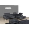 J&M Furniture Italian Leather Sectional Right Facing Chaise
