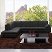 J&M Furniture Italian Leather Sectional in Left Hand Facing
