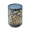 "Fantastic Craft Push Birch 5"" H Table Lamp with Drum Shade"