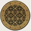 Couristan Royal Kashimar All Over Vase Black Rug