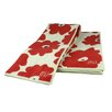 MU Kitchen MUmodern 3 Piece Towel Set in Red Poppy