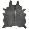 Panamerican Logix, Corp. Natural Cowhide Black Area Rug