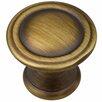 "GlideRite Hardware Deco 1.19"" Round Cabinet Knob"