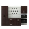 Flow Wall 6' H x 8' W x 1.5' D 5 Piece Cabinet Starter Set