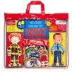 T.S.Shure 40 Piece Safety Patrol Wooden Magnetic Action Hero Set