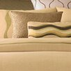 Flow Quilted Circles Decorative Pillow in Taupe