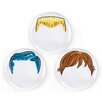 "Fred & Friends Dinner Do's 9"" Dinner Plate (Set of 3)"