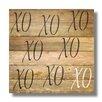 Beach Frames 'XOXOXO' Textual Art Plaque