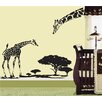 Pop Decors Little Giraffe and His Mother Removable Vinyl Art Wall Decal