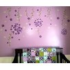 Pop Decors Flower Vines and Butterflies Removable Vinyl Art Wall Decal