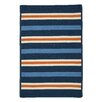 Colonial Mills Painter Stripe Set Sail Blue Indoor/Outdoor Area Rug