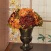 Floral Home Decor Hydrangea Urn Silk Flower Design