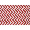 Wildon Home ® Red Chevron Area Rug