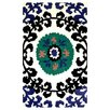 Wildon Home ® Suzani Blue Floral Indoor/Outdoor Rug