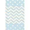 Wildon Home ® Cream/Blue Zigzag and Dot Area Rug