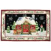 Accents Seasonal St Nick's Cabin Novelty Rug