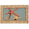 Homefires Starfish Blue Area Rug