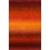 Trans-Ocean Rug Ombre Orange/Dark Red Sunrise Solid Area Rug