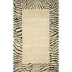 <strong>Seville Neutral Tiger Border Rug</strong> by Trans-Ocean Rug
