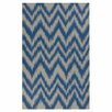 Surya Frontier Dark Blue/Dove Gray Zig Zag Area Rug