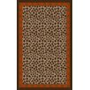 Surya Amour Chocolate/Beige Animal Print Area Rug