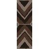 Surya Calaveras Chocolate Geometric Rug
