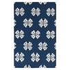 Surya Frontier Midnight Blue/Ivory Floral and Plants Area Rug