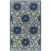 <strong>Capel Rugs</strong> Williamsburg Blue Patricia Polka Dots/Vines Rug