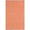 Capel Rugs Williamsburg Cantaloupe Linc Rope Graphic Rug