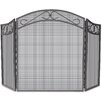Uniflame Corporation 3 Panel Wrought Iron Screen with Scrolls