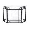 <strong>Uniflame Corporation</strong> 3 Panel Wrought Iron Fireplace Screen with Diamond Design
