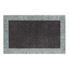 Dynamic Rugs Manhattan Charcoal/Teal Solid Bordered Rug