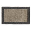 Dynamic Rugs Manhattan Silver/Charcoal Solid Bordered Area Rug
