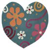Dynamic Rugs Fantasia Heart Light Turquoise Kids Rug
