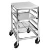 Channel Manufacturing Double Section Open Shelf Mobile Work Table