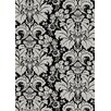 <strong>Bella Damask Black/Silver Rug</strong> by Radici USA