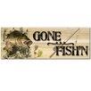 WGI WoodGraphixs, Inc Gone Fish'n Bass Graphic Art Plaque