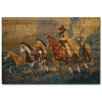 WGI-GALLERY A Cowboy Day Painting Print on Wood