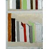 Art Excuse 'Books' by Regine La Fata Original Painting on Wrapped Canvas
