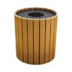 Highland Products 32 Gallon Recycled Plastic Trash Receptacle with Lid