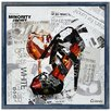 "Empire Art Direct ""Stiletto Shoe B"" Original Handmade Paper Collage Signed by Gianni Framed Graphic Art"