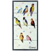 """Empire Art Direct """"Wired Birds A""""  Original Handmade Paper Collage Signed by Gianni Framed Graphic Art"""