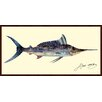 """Empire Art Direct """"Blue Marlin"""" Original Dimensional Collage Hand Signed by Alex Zeng Framed Graphic Art"""